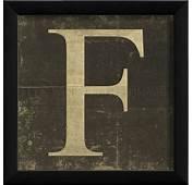 LETTER F Framed Vintage Picture / 3 Sizes Custom