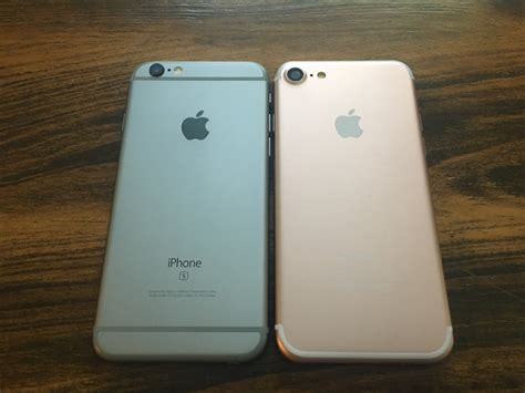 in photos iphone 7 dummy compared to the 6s plus and se