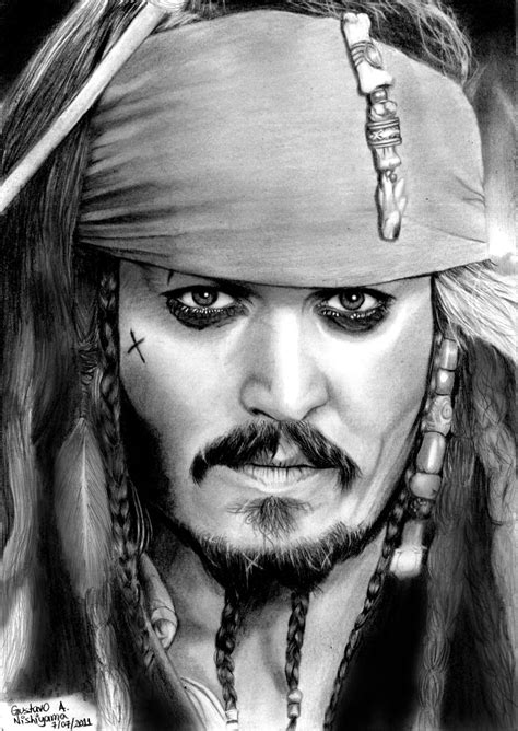 johnny depp as jack sparrow by gustavodeandrade on deviantart