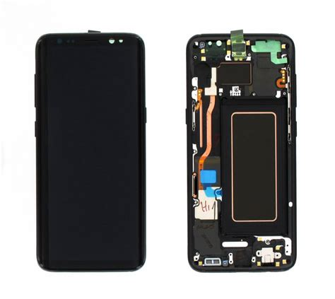 Lcd Samsung S8 Plus Kaca Retak A Stock lcd with touch and frame samsung galaxy s8 plus g955 black