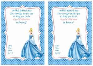 cinderella birthday invitations birthday printable