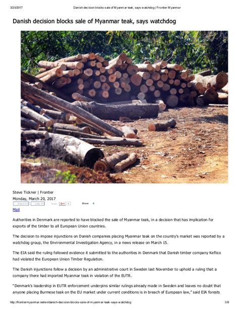 sle of eia report environmental investigation agency eia for myanmar timber