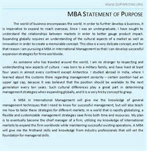 statement of purpose sop for mba admissions mba