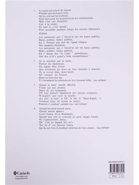 Georges Brassens Bancs Publics by Georges Brassens Les Amoureux Des Bancs Publics Piano
