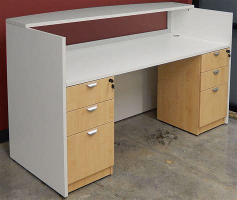 reception desk wood white woodgrain u shaped reception desk