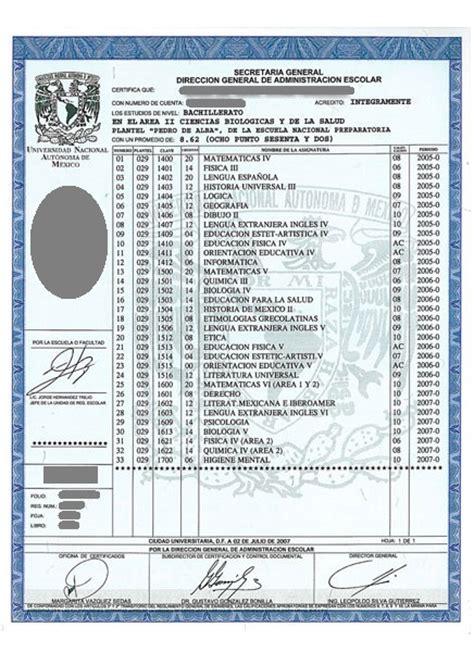 certificado de preparatoria certificado de preparatoria 187 certificado de preparatoria unam