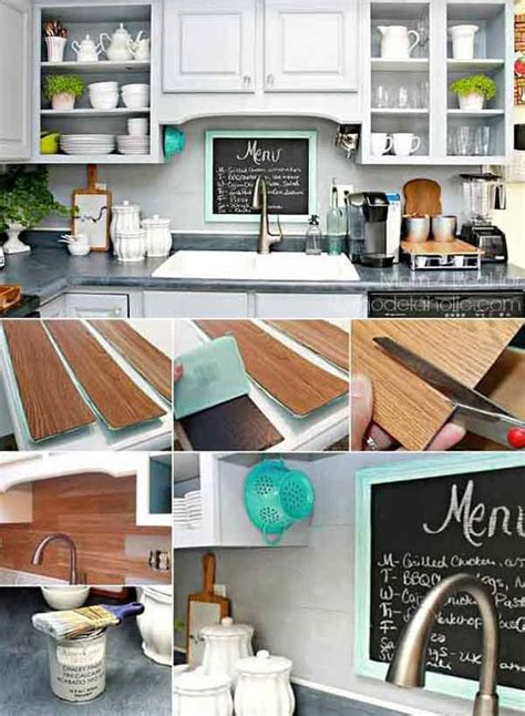 Diy Backsplash Kitchen - 24 low cost diy kitchen backsplash ideas and tutorials