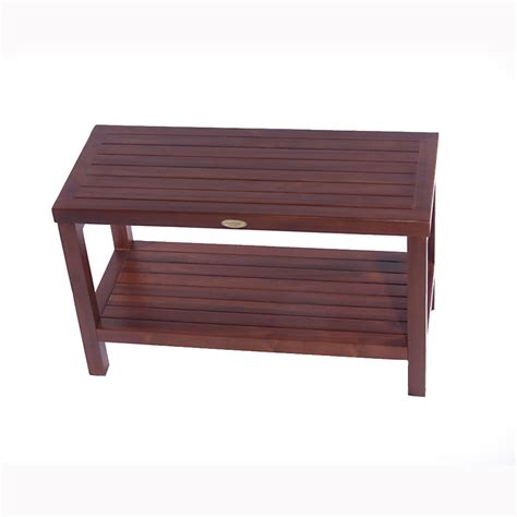 teak shower bench with shelf decoteak dt116 classic 30 teak shower bench with shelf