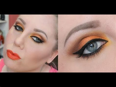 orange makeup tutorial bright striking orange makeup tutorial youtube