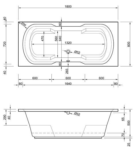tiefe badewanne 180 x 80 cm mit armlehnen armauflagen duo - Badewanne Tief