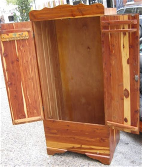 Cedar Armoire Wardrobe by Uhuru Furniture Collectibles Cedar Armoire Sold