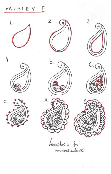 doodle drawing lessons how to draw indian mehndi henna paisley small tutorial