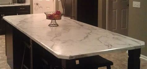 Formica 180fx top in Calacatta Marble. What a great way to