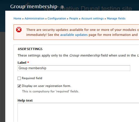 drupal theme user register form 7 select organic group on the user registration form