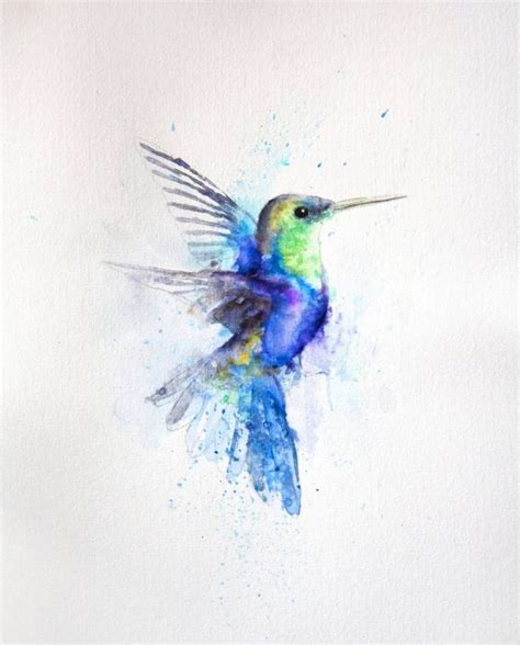 hummingbird watercolor tattoo 25 best ideas about watercolor hummingbird on