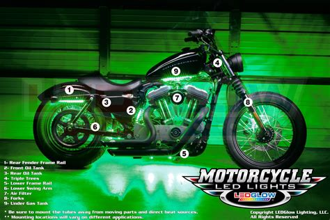 harley davidson led lights kit motorcycle image ideas