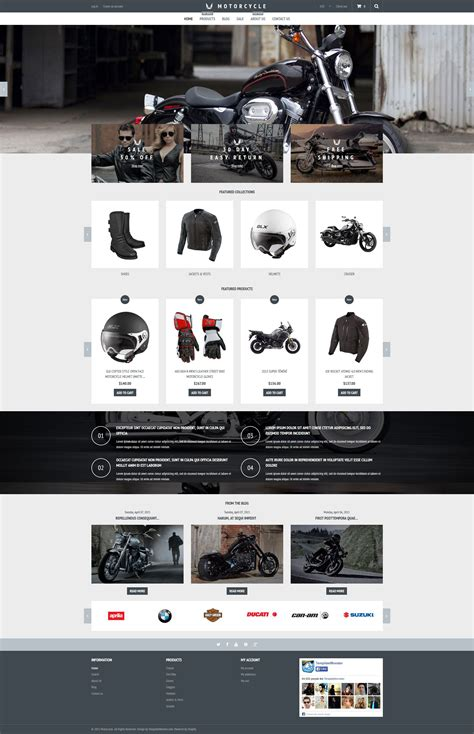 Motorcycle Shopify Theme Shopify Template