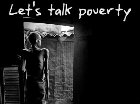 Lets Talk Poverty Poverty Powerpoint Template