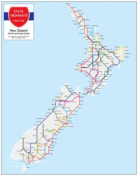 map new map nz state highway metro maps the map kiwi