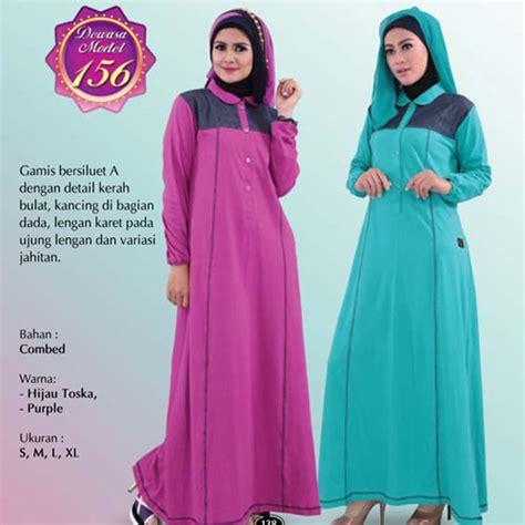 Gamis Muslimah Bahan Combed q156 katalog busana muslim