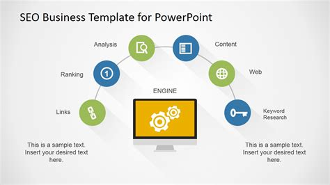 seo template flat seo powerpoint template slidemodel