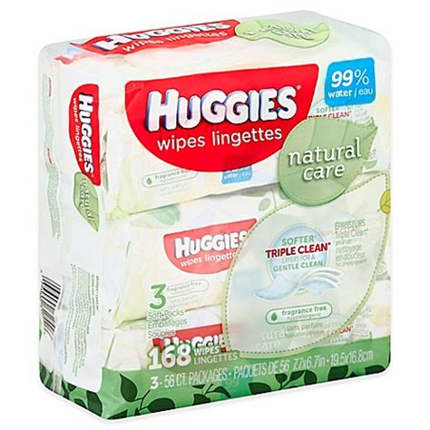 Baby And Wipes 60pcs 3pack huggies 174 care 3 pack 56 count baby wipes in unscented bed bath beyond
