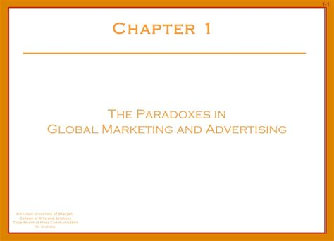 Global Marketing 7ed 1 ibahrine chapter 1 the paradoxes in global marketing communication