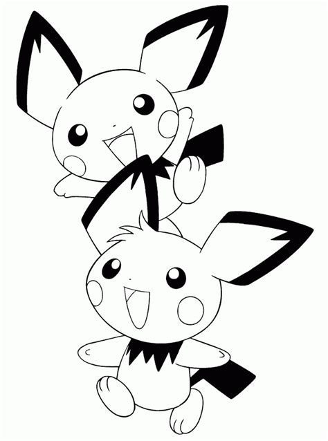 pokemon coloring pages pichu pichu coloring pages coloring home