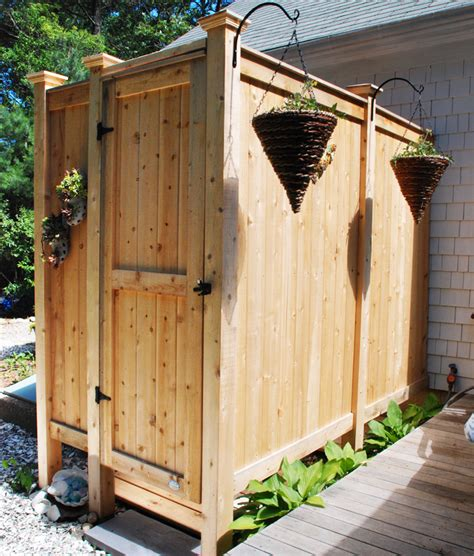 outdoor cedar shower outdoor shower enclosure cedar showers kits outdoor