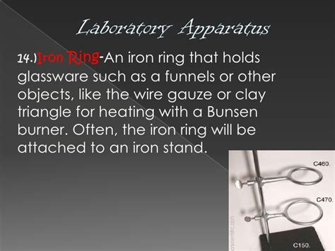 uses of iron stand and ring laboratory apparatus