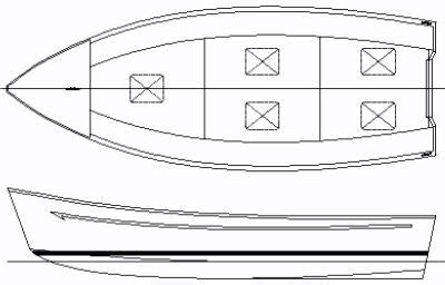 yacht layout template 20ft steel or aluminum hard chine general purpose boat