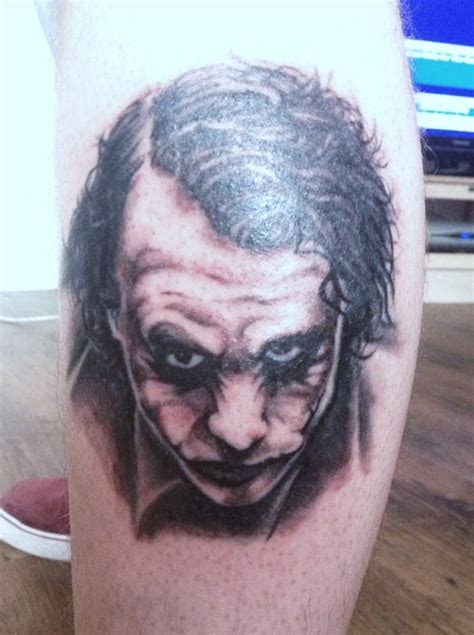 heath ledger joker tattoo by hamdoggz on deviantart