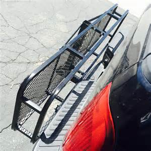 large rack cargo luggage carrier basket car rear hitch