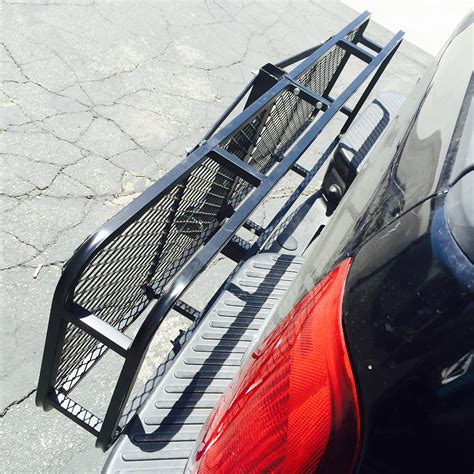 Rear Car Rack by Large Rack Cargo Luggage Carrier Basket Car Rear Hitch