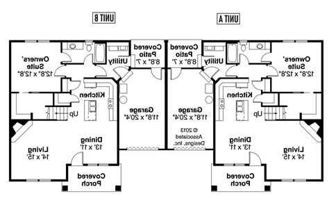 floor plans for duplex houses single story duplex floor plans
