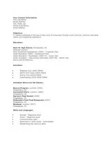 high school student curriculum vitae sle resume