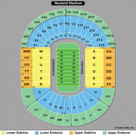 neyland stadium map tn vols football seating chart tennessee vols basketball tickets 2017 2018 ut vols tickets
