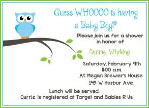 free printable owl baby shower invitations sle