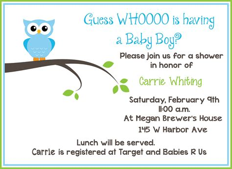 baby shower invites template