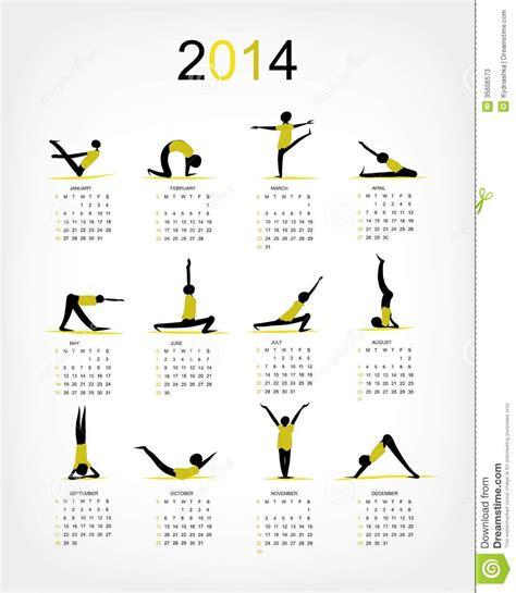 calendario su doodle calendario 2014 de la para su dise 241 o fotos de archivo