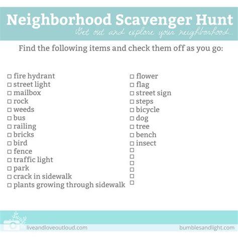 photo scavenger hunt list 17 best ideas about neighborhood scavenger hunts on