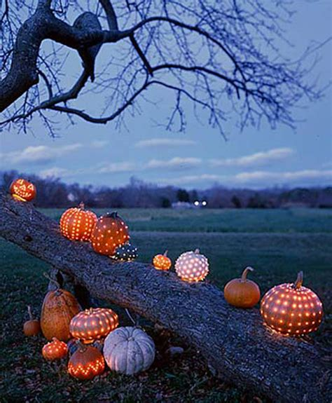 Outdoor Lighted Pumpkin Decorations with 33 Spoooky Outdoor Decorations