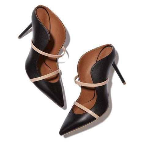 black leather high heel mules shoes high heel black leather mules pointed toe slip