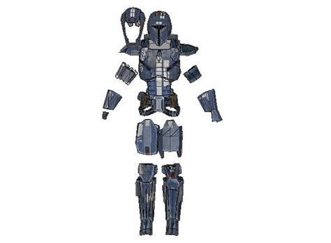 wars galaxy armor templates with updated wars the republic size mandalorian bounty