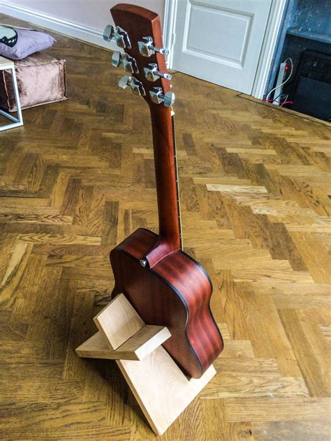 make all from wood build this simple guitar stand from a single board of wood