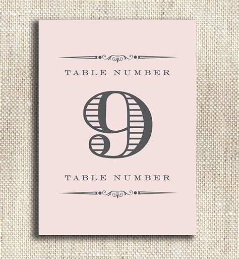 free printable vintage numbers items similar to vintage style printable table numbers