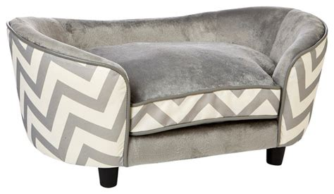 gray dog bed ultra plush snuggle dog bed chevron gray contemporary dog beds by enchanted