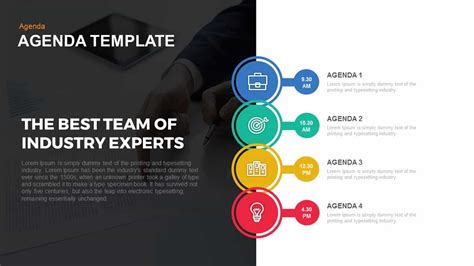 Agenda Powerpoint And Keynote Template Slidebazaar Microsoft Powerpoint Agenda Template