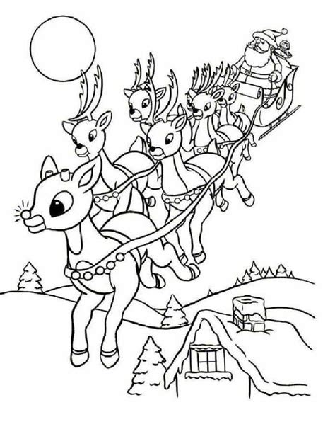 coloring pages santa rudolph az coloring pages