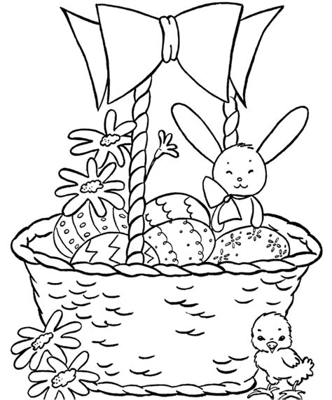 coloring pages of easter baskets easter basket free colouring pages